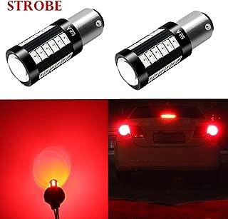 Alla Lighting 2800lm 7518 1157 LED Strobe Flashing Lights Bulbs Xtreme Super Bright BAY15D 1157 LED Bulbs High Power 5730 33-SMD LED 1157 Bulbs 7528 2057 2357 LED Turn Signal Brake Stop Tail Light