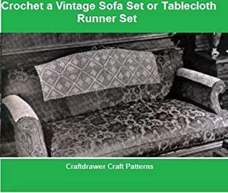 Crochet a Vintage Sofa Set Pattern - Crochet Motif Pattern for Sofa Head and Arm Rests