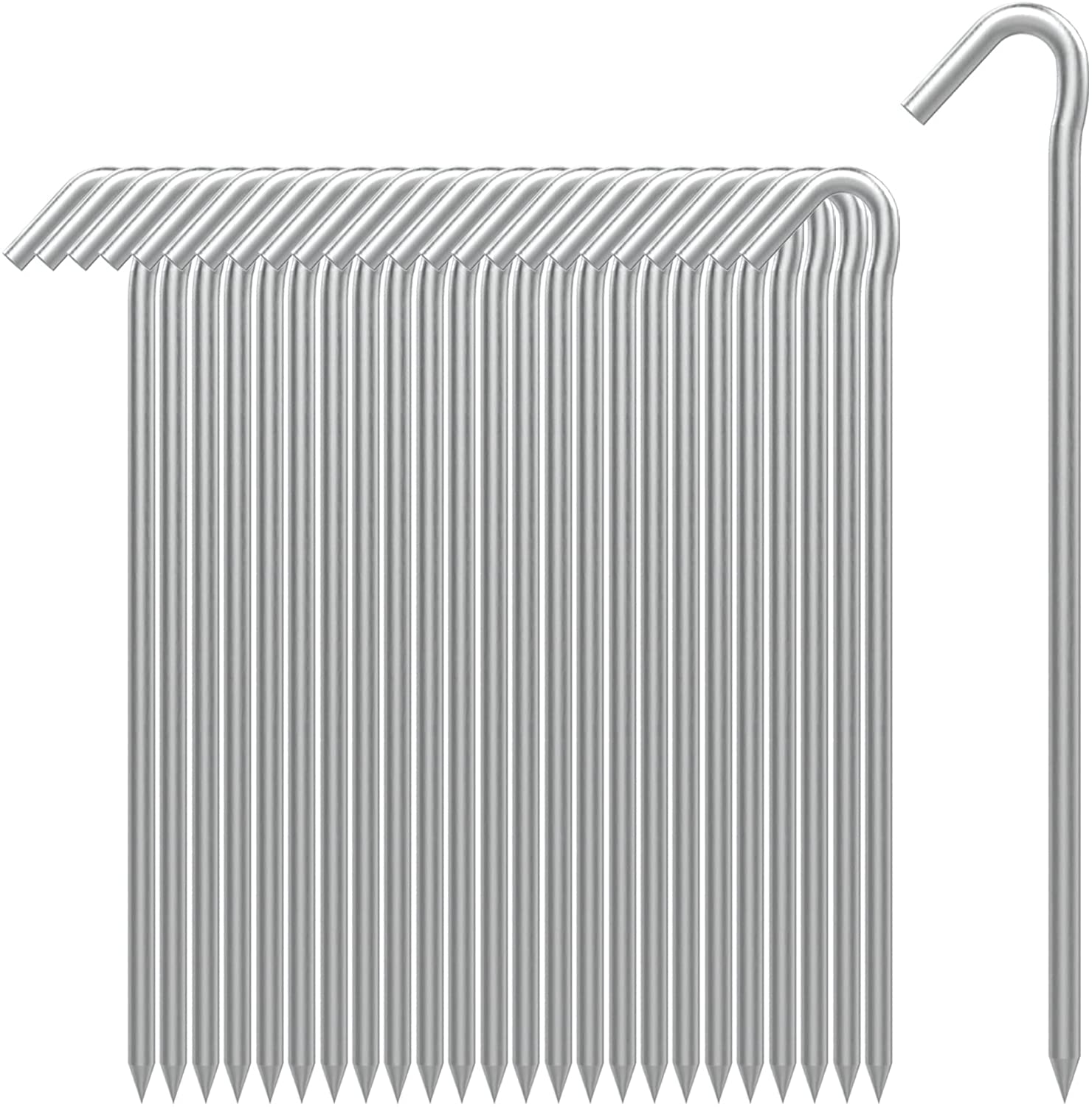 AAGUT Tent Stakes 25 Pack 9 Pegs Metal Brand new Garde Camping Inch Financial sales sale