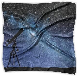 Bandana Head and Neck Tie Neckerchief,Telescope Valley Under Starry Night Sky Milky Way Atmosphere Galaxy Astronomy,Headband