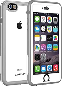 CellEver Waterproof Case for iPhone 6s Plus/iPhone 6 Plus, 5.5-Inch, Clear Waterproof IP68 Certified Shockproof Sandproof Snowproof Full Body Sealed Protective Transparent Cover KZ (Gray/Clear)