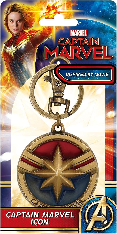 Marvel Captain Logo Pewter Key Ring