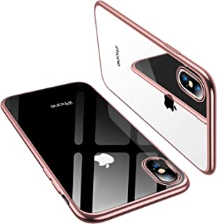 TORRAS iPhone Xs Case/iPhone X Case, Ultra Thin Slim Fit Soft Silicone TPU Cover Case Compatible with iPhone X/iPhone Xs 5.8 inch, Rose Gold