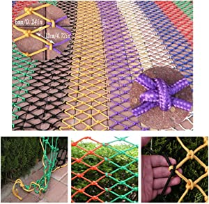 HWJ Child Safety Stair Protection Net Anti-fall Nets Railing Nets Color Ceiling Nets Decorative Nets Hand-woven Nets Garden Playgrounds Kindergarten  Size 2x8m