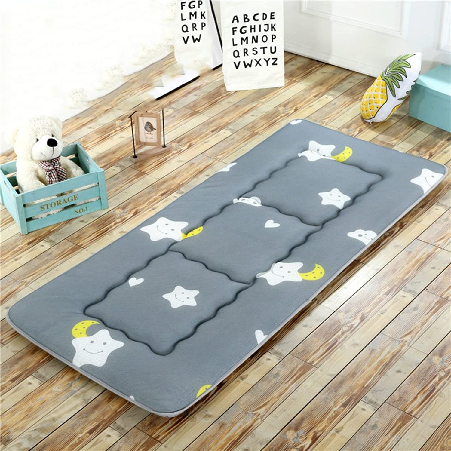 Collapsible Tatami mats Floor mat Cushion,Summer Breathable Pillow Mattress Student Dormitory Bedroom Foldable Sleeping pad Bed Predector-F 180x200cm(71x79inch)