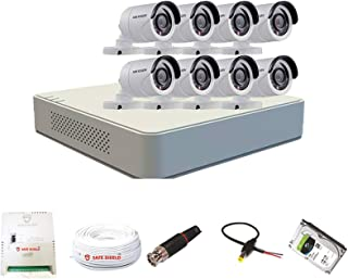 Hikvision 8 Channel DVR & 8 Bullet CCTV Camera with Speedlink Cable & Power Supply Surveillance kit