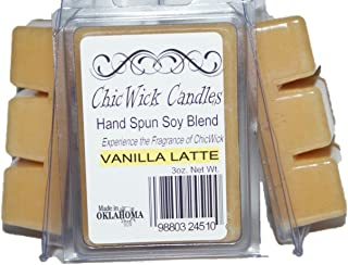 ChicWick Candles 3Pack Vanilla Latte Soy Blend Wax Melts 9oz 18 Wax Cubes Wax Tarts Wax Chunks, 100 Plus Hours of Quality Fragrance