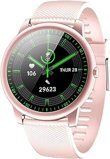 LTLJX Reloj Inteligente Pulsómetro Pulsera de Actividad con Monitor de Sueño Podómetro Impermeable IP68 Reloj Deportivo Mujer Hombre Smartwatch Compatible Android y iOS,Rosado