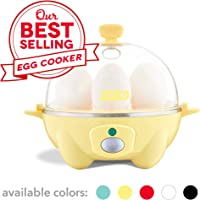 Dash Rapid Egg Cooker: 6 Egg Capacity Electric Egg Cooker for Hard Boiled Eggs, Poached Eggs, Scrambled Eggs, or Omelets...