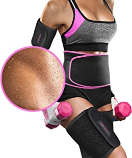 Perfotek Waist Trimmer Belt, Slimmer Kit, Weight Loss Wrap, Stomach Fat Burner, Low Back and Lumbar Support with Sauna Sui...