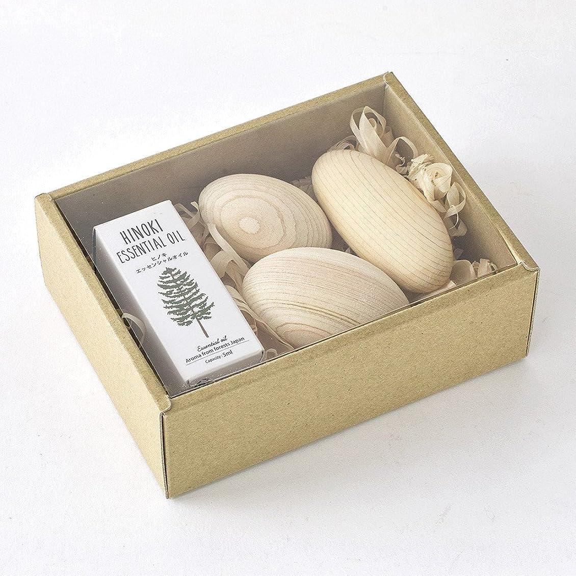 追加伸ばすライドSPICE OF LIFE アロマオイル&ウッドボールセット ヒノキ 木曽ヒノキ 天然精油 香り 癒し リラックス 日本製 YKLG8010SET