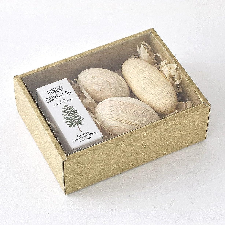 なしで公平な洗練SPICE OF LIFE アロマオイル&ウッドボールセット ヒノキ 木曽ヒノキ 天然精油 香り 癒し リラックス 日本製 YKLG8010SET