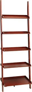 Convenience Concepts French Country Bookshelf Ladder, Dark Cherry
