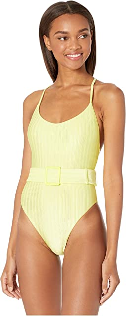 bac38ccaf92 The bikini lab solid plunge one piece with back detail | Shipped ...