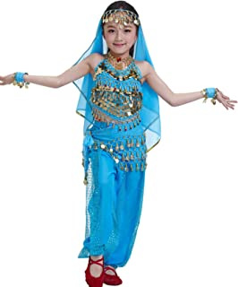 Kids Princess Girl Indian Belly Dance Costume Cosplay Bollywood Ornaments