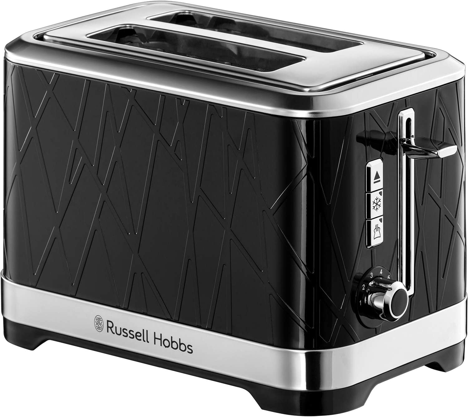 Russell Hobbs 28091 Structure Toaster, 2 Slice - Contemporary Design Featuring Lift and Look with Frozen, Cancel and Reheat Settings, Black