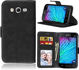 Galaxy Grand Neo Case,FUBAODA [Drop Protection] Premium PU Leather Wallet Cover with Card Slots & Stand &Magnetic Closure for Samsung Galaxy Grand Neo I9060/Neo Plus GT-I9060I /Duos i9082(Black)