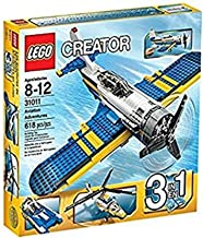 LEGO CREATOR 3-in-1 Aviation Adventure Building Set - Helicopter & Boat| 31011