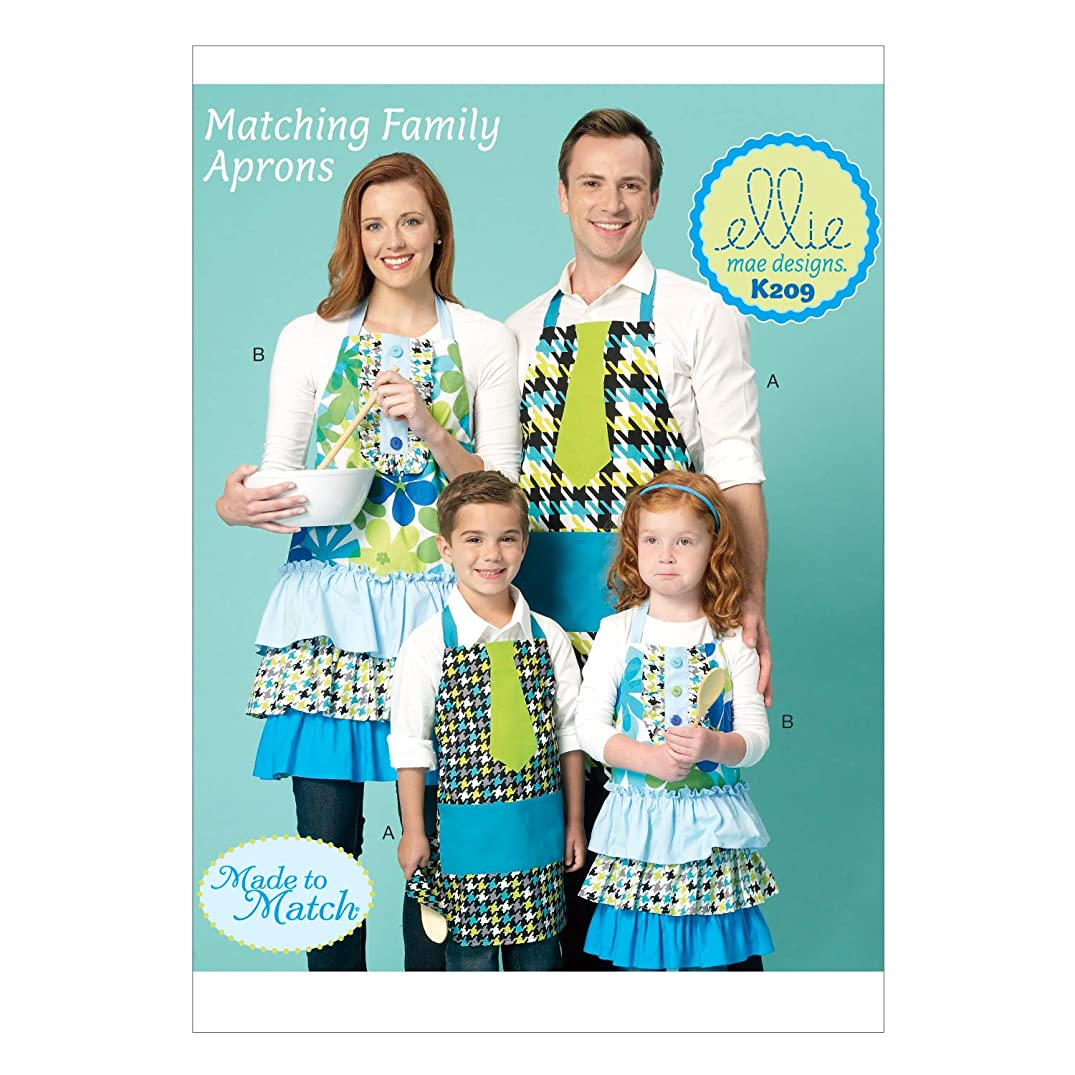 KWIK-SEW PATTERNS K0209 Adults'/Kids' Aprons, All Sizes
