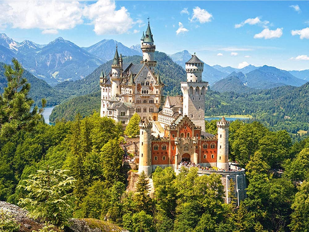 All items free shipping Castle Wooden Jigsaw Puzzles Genuine for Adults Fam Toys Kids Puzzle