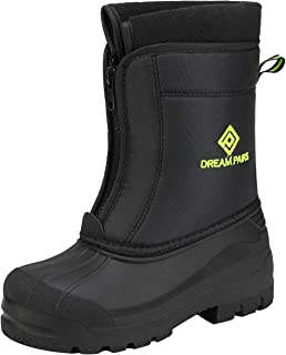 DREAM PAIRS Boys Girls Waterproof Winter Snow Boots