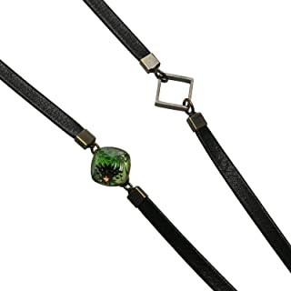 Tamarusan Eyeglass Cord Marble Green Leather Cord Unisex Glasses Strap