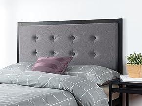 Zinus Barbara Headboard | Upholstered Button Tufted Fabric Bed Head, Metal Frame, High Density Foam - Grey