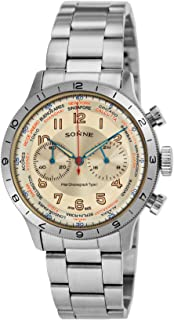 [SONNE]ゾンネ 腕時計 パイロットクロノグラフタイプI アイボリー文字盤 HI003IV メンズ