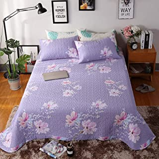 JANRON Quilted Bedspread 3 Piece Jacquard Double King Size Bed Throws Quilts Coverlet Comforter Set with Pair of Pillow Cases - 200X230CM/245X260CM