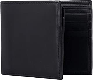 Artizanni Extra Capacity Bifold Wallet for Men - RFID Blocking Genuine Leather Wallet SD 039 (Black with Zipper compartment)