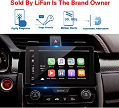 LFOTPP 2016-2018 Civic Coupe EX Hatchback 7-Inch Car Navigation Screen Protector,Tempered Glass Infotainment in-Dash Display Touch, Compatible with The EX, EX-L, EX-T,Touring