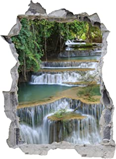 Details about  /Wasserfall Wandtattoo Wandaufkleber Wandsticker Wohnzimmer Idyllisch Wasser Flur