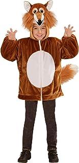 WIDMANN Kinderkostüm Fuchs aus Plüsch Disfraz Infantil de Zorro de Peluche, Color marrón, 98 (97447)