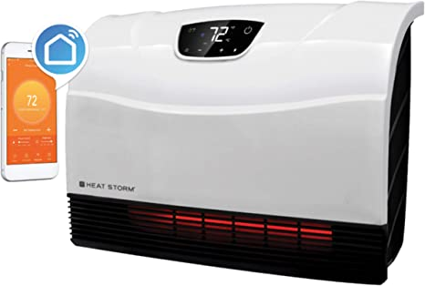 Heat Storm HS-1500-PHX-WIFI Infrared Heater, Wifi Wall Mounted: image