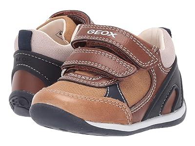 Geox Kids B Each Boy 26 (Infant/Toddler) (Caramel/Navy) Boy