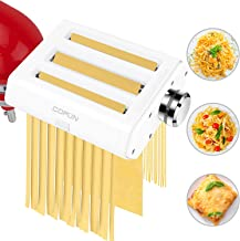 Pasta Maker Attachments for KitchenAid Stand Mixers, COFUN 3 in 1 Stainless Steel Pasta Maker Attachments Includes Pasta S...