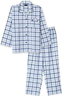 綿100% 長袖 メンズパジャマ 春 夏 向け チェック柄 さらりとした薄手のパジャマ