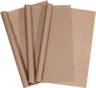limiyouxi Lot de 3 feuilles de cuisson permanentes - 40 x 60 cm - Facile à découper - Passe au lave-vaisselle - Respectueu...