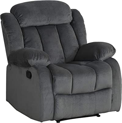 Sunset Trading Madison Recliner, Charcoal gray with blue undertones