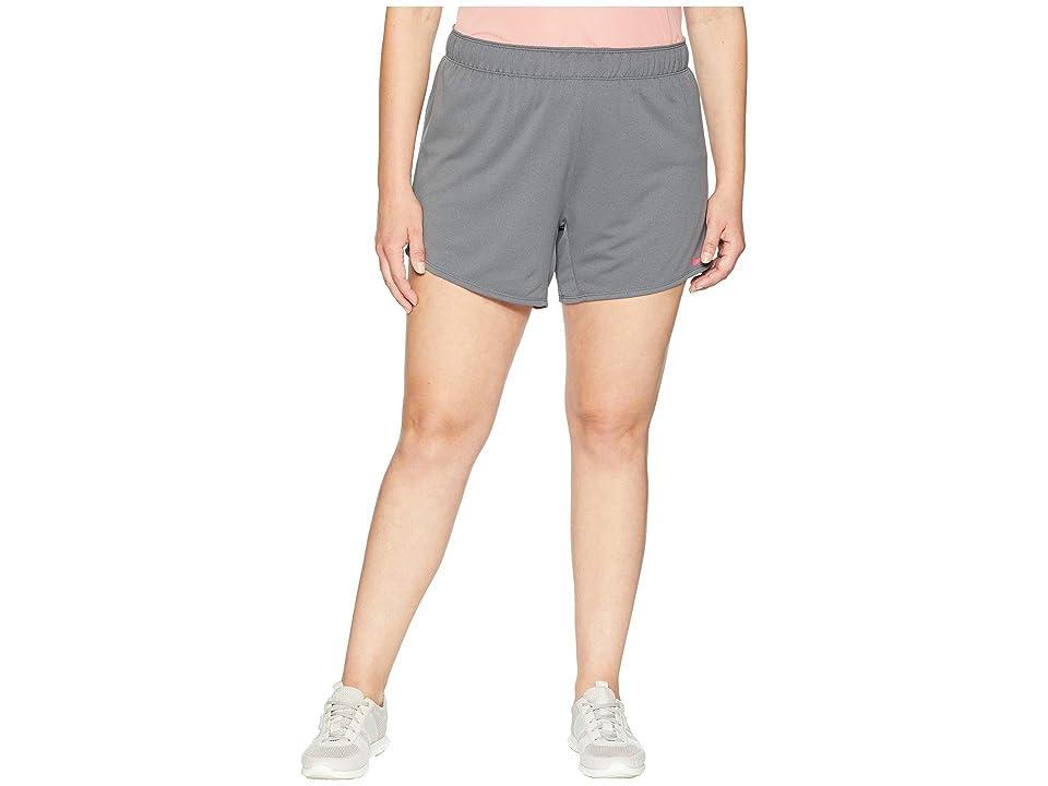 Nike Flex Attack TR5 Shorts (Size 1X-3X) (Dark Grey/Heather/Rush Pink) Women