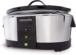 Crock-Pot SCCPWM600-V2, Stainless 6-Quart WeMo-Enabled Smart Slow Cooker, Steel