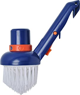 Wadoy Swimming Pool Corner Vacuum Brush Connects to 1-1/2 Vacuum Hose and 1-1/4 Poles, Fit for Cleaning Corners of Swimming Pools, Spas, Hot Tubs