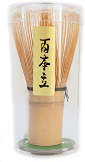 茶道具 茶筅 茶せん 竹製品 白竹 黒竹 百本立 百二十本立 (白竹, 100本立)