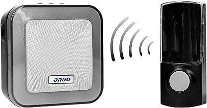 ORNO Enka DC Draadloze Deurbel -- Waterdicht -- 32 Ringtones -- Regelbaar Volume -- Bereik 100m -- Type Voeding Ontvanger:...