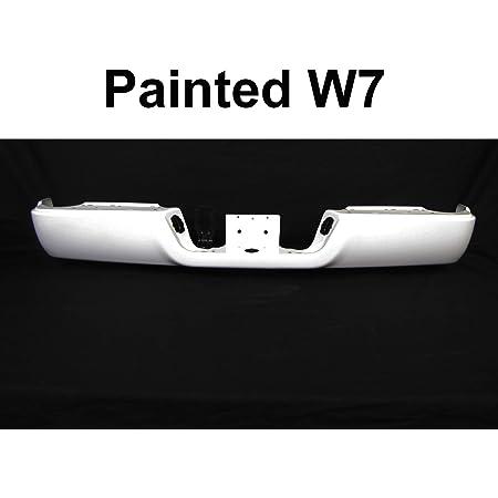 Painted Bright White Rear Step Bumper Face Bar W//O Sensor Hole 2009-2018 Dodge Ram 1500 CH1102372