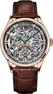 agelocer 艾戈勒 瑞士品牌 316L精钢 80小时超长动能 自动机械男士手表 镂空雕花时尚潮男腕表 5401(亚马逊自营商品, 由供应商配送)