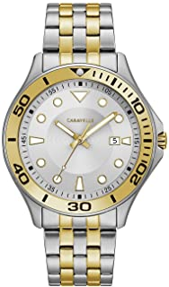Caravelle Designed by Bulova Men's Quartz Watch with Stainless-Steel Strap, Two Tone, 18 (Model: 45B151)