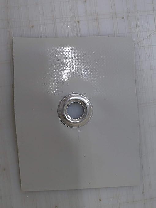 5 X 9 Telo telone occhiellato impermeabile e multiuso SU MISURA AVORIO 650 GRAMMI METRO QUADRO