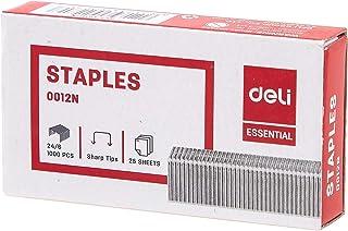 Deli, Desktop Supplies, Office Consumable, E0012N, Silver, Staple - 24/6, (1 PCS)