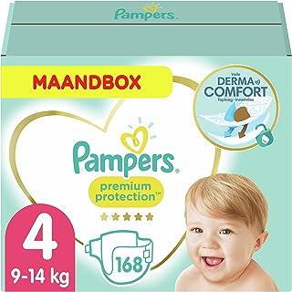 Pampers Maat 4 Premium Protection Luiers, 168 Stuks, MAANDBOX, onze Nummer 1 Luier voor Zachtheid en Bescherming van de Ge...